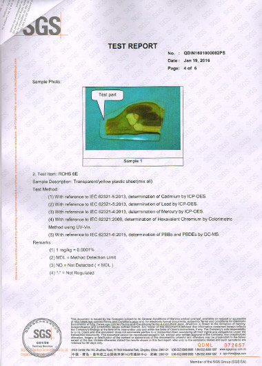 SGS of Epoxy Resin