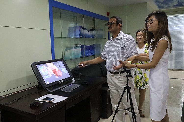VR anatomy software